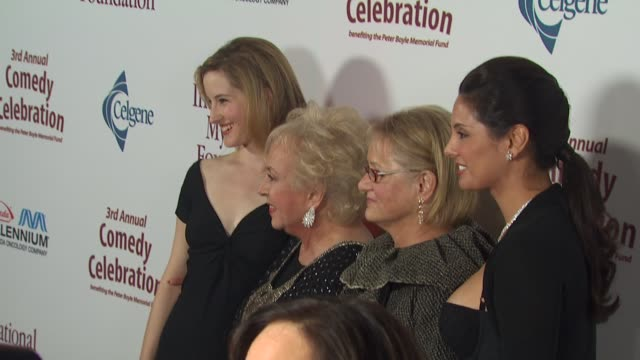 lucy boyle, doris roberts, loraine boyle, alex meneses at the international myeloma foundation's 3rd annual comedy celebration at los angeles ca. - doris roberts stock videos & royalty-free footage