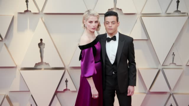 Lucy Boynton and Rami Malek at the 91st Academy Awards Arrivals at Dolby Theatre on February 24 2019 in Hollywood California
