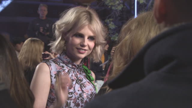 lucy boyntonat at 'murder on the orient express' world premiere at royal albert hall on november 02 2017 in london england - johnny depp stock videos & royalty-free footage