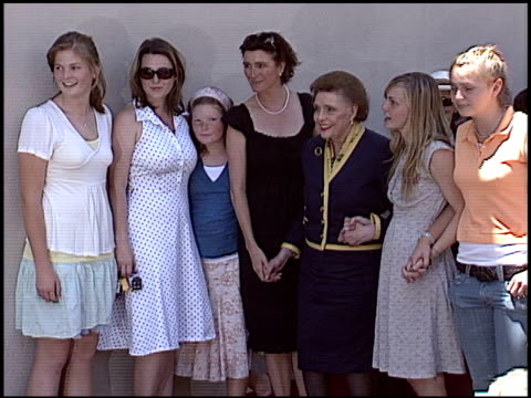 lucy dahl at the dediction of patricia neal's walk of fame star at the hollywood walk of fame in hollywood california on may 20 2005 - dahl stock videos and b-roll footage