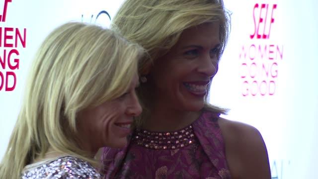 lucy danziger and hoda kotb at the self magazine women doing good awards at new york ny. - hoda kotb stock videos & royalty-free footage