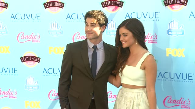 Lucy Hale Darren Criss at 2013 Teen Choice Awards Arrivals on 8/11/2013 in Universal City CA
