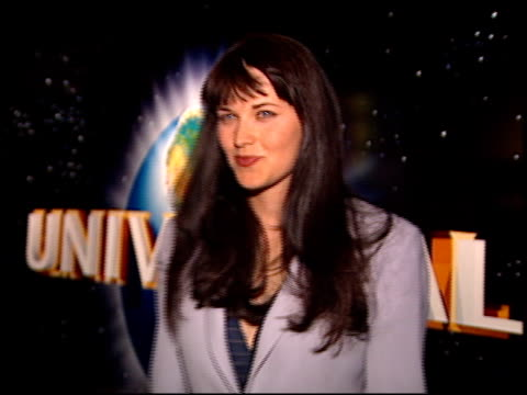 Lucy Lawless at the NATPE on January 15 1997