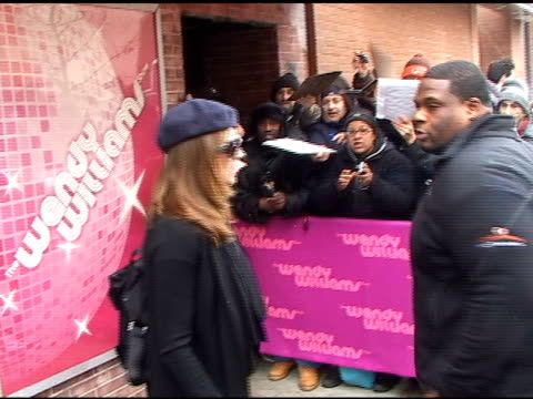 Lucy Lawless at the Wendy Williams Show 01/19/11 at the Celebrity Sightings in New York at New York NY