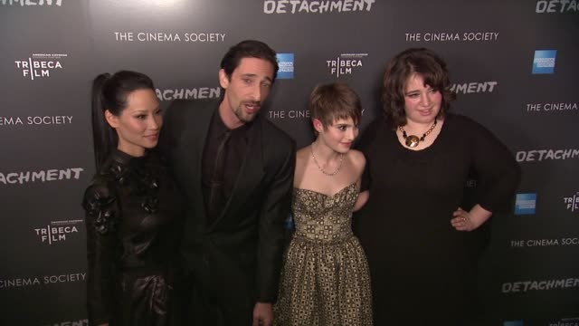 lucy liu adrien brody sami gayle and betty kaye at premiere of tribeca film's detachment hosted by american express the cinema society on 3/13/2012... - adrien brody stock videos and b-roll footage