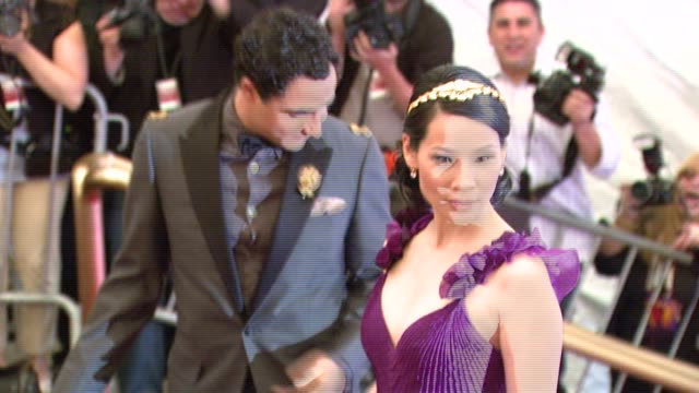 lucy liu and zac posen at the metropolitan museum of art costume institute gala, 'poiret: king of fashion' at the metropolitan museum of art in new... - lucy liu stock videos & royalty-free footage