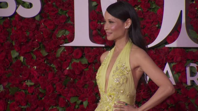 lucy liu at 2016 tony awards red carpet at the beacon theatre on june 12 2016 in new york city - 70th annual tony awards stock videos and b-roll footage