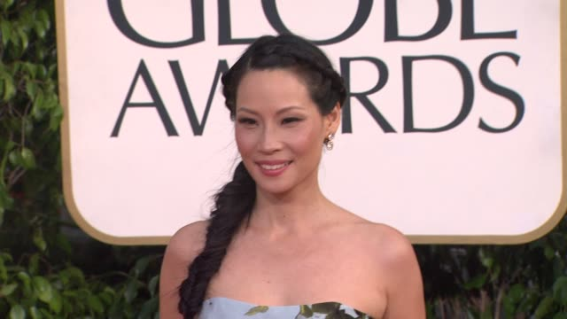 lucy liu at 70th annual golden globe awards - arrivals 1/13/2013 in beverly hills, ca. - lucy liu stock videos & royalty-free footage