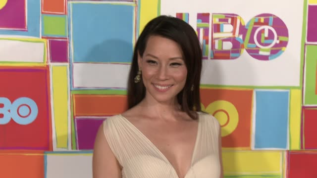lucy liu at hbo's official 2014 emmy after party at the plaza at the pacific design center on august 25, 2014 in los angeles, california. - lucy liu stock videos & royalty-free footage