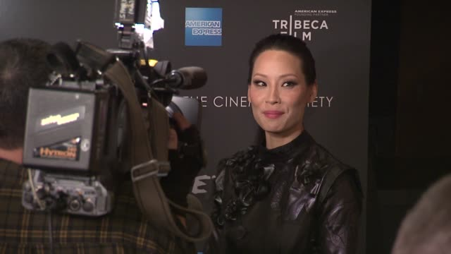 lucy liu at premiere of tribeca film's detachment hosted by american express & the cinema society on 3/13/2012 in new york, ny, united states. - lucy liu stock videos & royalty-free footage