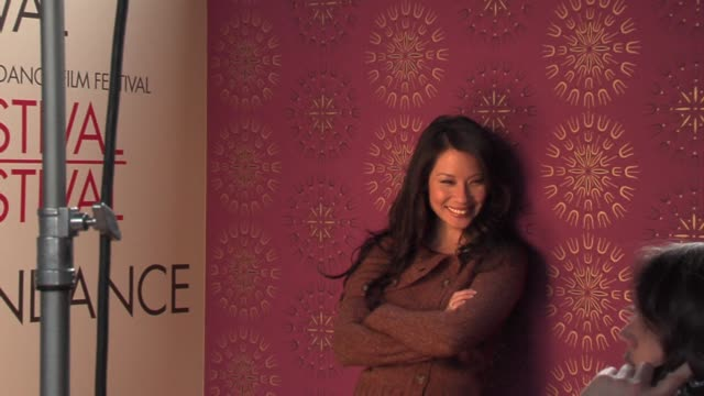 lucy liu at the 2006 sundance film festival hp portrait studio presented by wireimage at wireimage studio in park city, utah on january 21, 2006. - lucy liu stock videos & royalty-free footage