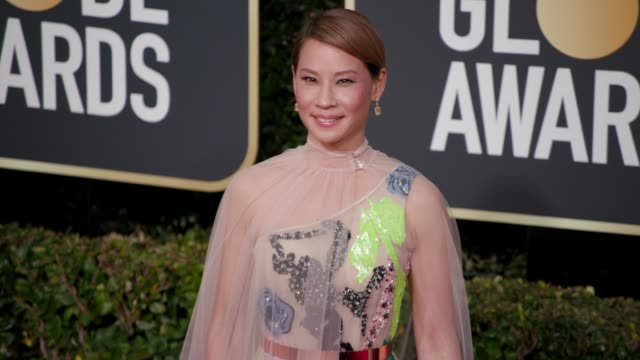 lucy liu at the 76th annual golden globe awards - arrivals - 4k footage at the beverly hilton hotel on january 06, 2019 in beverly hills, california. - lucy liu stock videos & royalty-free footage