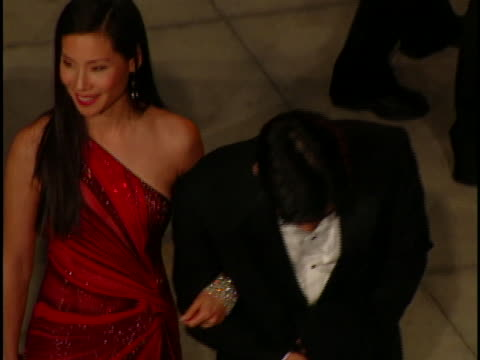 lucy liu at the academy awards vanity fair at mortons west hollywood in west hollywood ca - オスカーパーティー点の映像素材/bロール