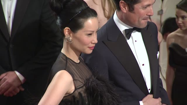 lucy liu at the 'alexander mcqueen: savage beauty' costume institute gala at the metropolitan museum of art at new york ny. - lucy liu stock videos & royalty-free footage