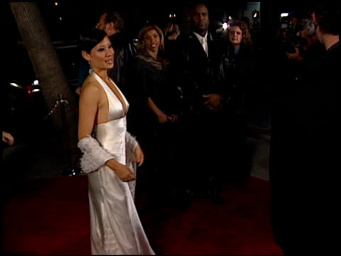 lucy liu at the chicago premiere at academy theater in beverly hills, california on december 10, 2002. - lucy liu stock videos & royalty-free footage