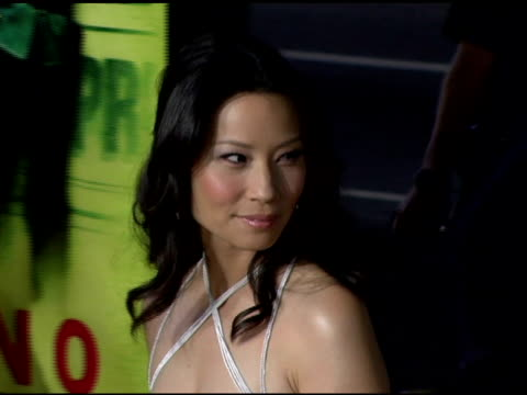 lucy liu at the 'domino' los angeles premiere at grauman's chinese theatre in hollywood, california on october 11, 2005. - lucy liu stock videos & royalty-free footage