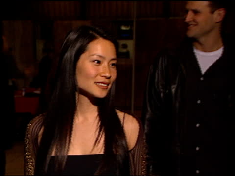 lucy liu at the 'go' premiere at the cinerama dome at arclight cinemas in hollywood, california on april 7, 1999. - lucy liu stock videos & royalty-free footage
