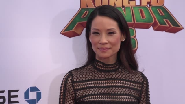 lucy liu at the 'kung fu panda 3' world premiere at tcl chinese theatre on january 16, 2016 in hollywood, california. - lucy liu stock videos & royalty-free footage