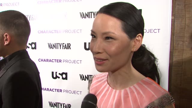 Lucy Liu talking about her love of photography how still photos better portray characters and her upcoming art show at the USA Network and Vanity...