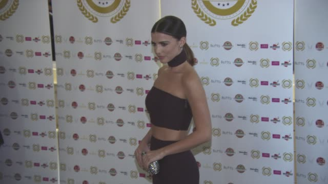 lucy mecklenburgh at national film awards at porchester hall on march 30, 2016 in london, england. - ポーチェスター点の映像素材/bロール