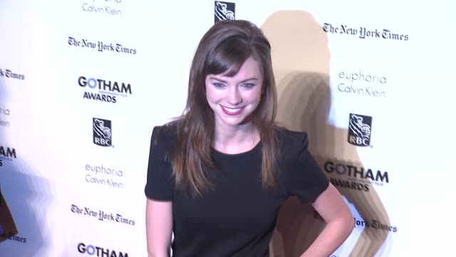 lucy mulloy at the ifp's 21st annual gotham independent film awards - red carpet at new york ny. - independent feature project stock videos & royalty-free footage