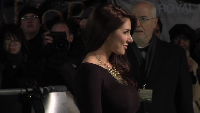 lucy pinder at 'the hobbit' uk premiere and royal film performance at odeon leicester square on december 12, 2012 in london, england. - the hobbit stock videos & royalty-free footage
