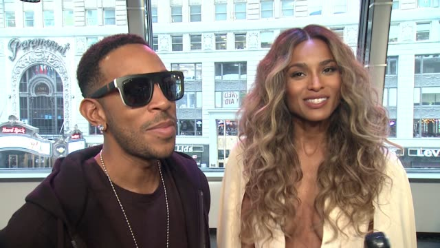 interview ludacris and ciara on having just made the announcement of the finalists on ciara being cohost for the first time ciara jokes that ludacris... - ludacris stock videos & royalty-free footage