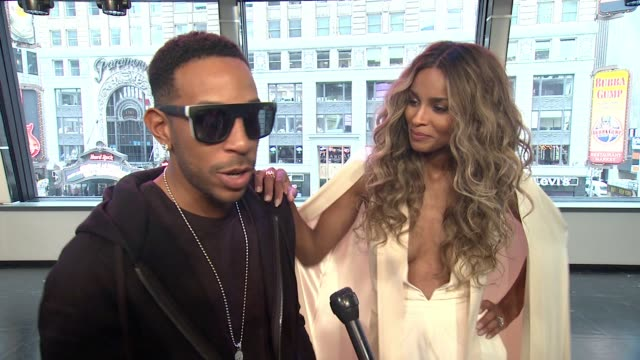 interview ludacris and ciara on wishing every finalist success ludacris jokes that bobby brown will perform on justin bieber performing on surprises... - ludacris stock videos & royalty-free footage