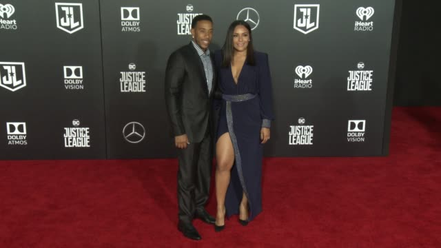 ludacris and eudoxie mbouguiengue at the justice league world premiere at dolby theatre on november 13 2017 in hollywood california - ludacris stock videos & royalty-free footage