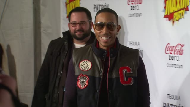 ludacris at patron presents the maxim party featuring cocacola zero countdown with paul mitchell on 2/4/12 in indianapolis in - paul mitchell stock videos and b-roll footage