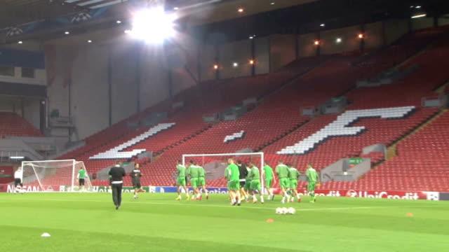 Liverpool Anfield EXT General views of PFC Ludogorets Razgrad training session