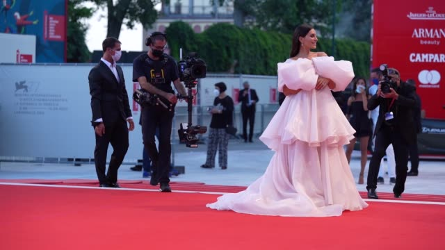 ludovica valli arrives on the red carpet ahead of the 'the world to come' screening during the 77th venice film festival on september 06 2020 in... - gif stock videos & royalty-free footage