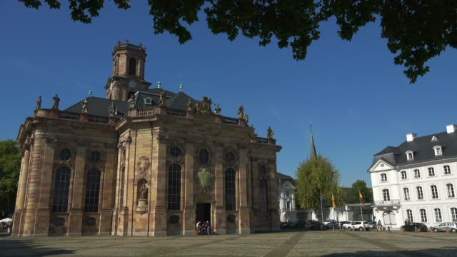 Ludwig's Church and Ludwig's Square, Saarbrucken, Saarland, Germany, Europe