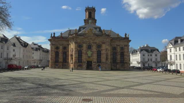 Ludwigsplatz Square and Church of St. Ludwig in Saarbrucken, Saarland, Germany, Europe Hans-Peter Merten