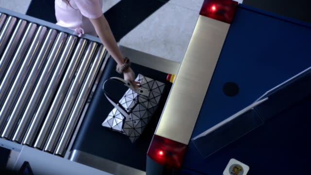 luggage screening on location x-ray device - x ray image stock videos & royalty-free footage