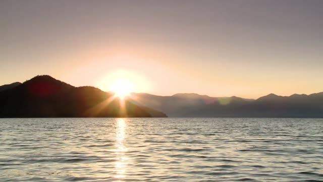 lugu hu lake in china - lake stock videos & royalty-free footage