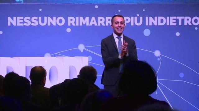 Luigi Di Maio Italian Minister for Economic Development presents how citizen's income will work