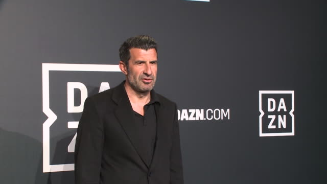 luis figo attends 'dazn' photocall at cines callao on february 27 2020 in madrid spain - marc marquez video stock e b–roll