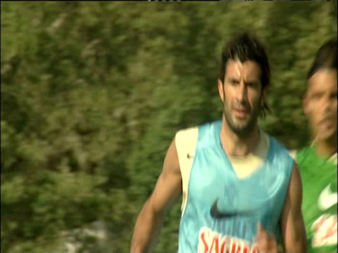 luis figo running and chasing ball during portugal training session 10 jun 04 - portuguese culture stock videos & royalty-free footage