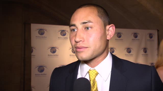 interview luis robles on what this event is about on how the new york red bulls supports the causes being supported here on what he hopes will be... - new york red bulls stock videos and b-roll footage