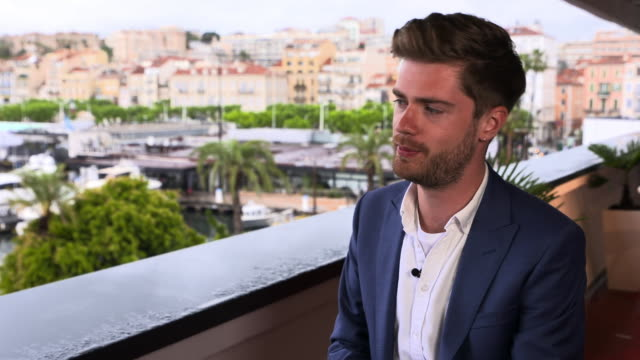 lukas dhont on what he is hoping for next at 'girl' interviews - the 71st annual cannes film festival on may 13, 2018 in cannes, france. - 第71回カンヌ国際映画祭点の映像素材/bロール