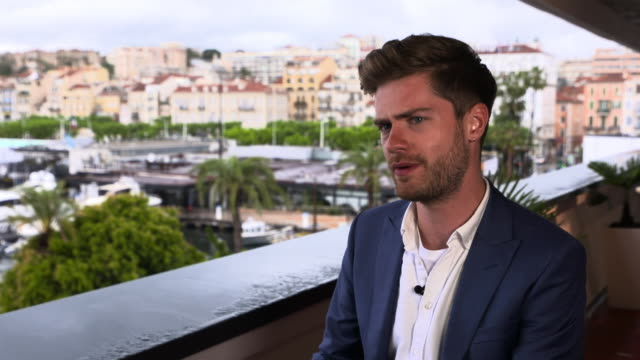 lukas dhont on when he first decided to make the film, transgender not so much part of public debate at 'girl' interviews - the 71st annual cannes... - 第71回カンヌ国際映画祭点の映像素材/bロール