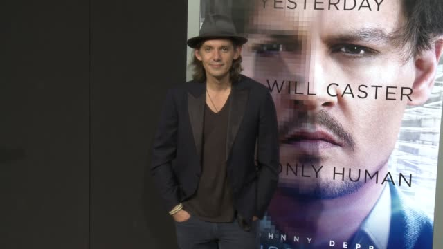 """lukas haas at the """"transcendence"""" los angeles premiere at regency village theatre on april 10, 2014 in westwood, california. - regency village theater stock videos & royalty-free footage"""