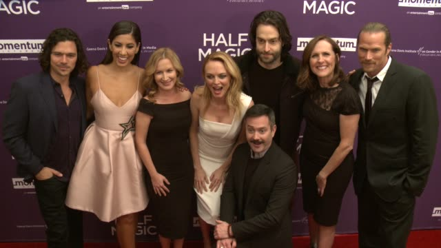 luke arnold stephanie beatriz angela kinsey heather graham thomas lennon chris d'elia molly shannon and jason lewis at the half magic los angeles... - angela kinsey stock videos and b-roll footage