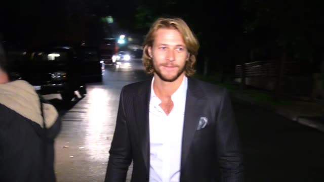 luke bracey departing the vanity fair fiat young hollywood in hollywood celebrity sightings in los angeles ca on - vanity fair stock videos and b-roll footage