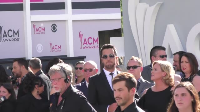 luke bryan arriving to the 52nd academy of country music awards in celebrity sightings in las vegas - academy of country music awards stock videos & royalty-free footage