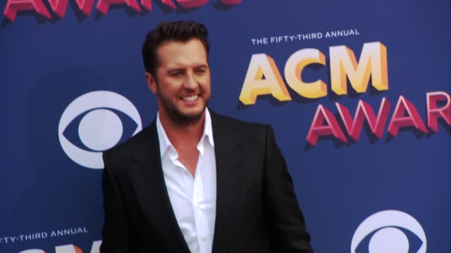 luke bryan at the 53rd academy of country music awards at mgm grand garden arena on april 15 2018 in las vegas nevada - academy of country music awards stock videos & royalty-free footage