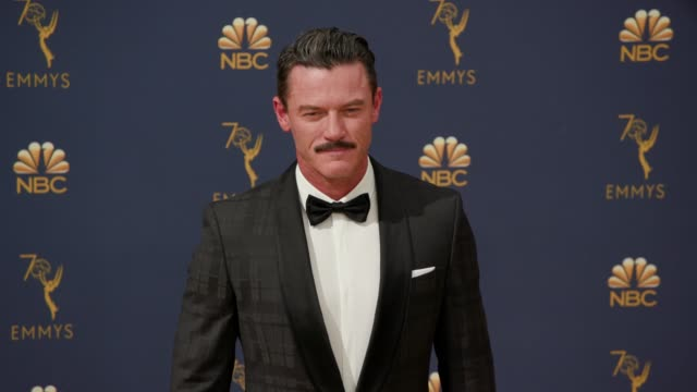 luke evans at the 70th emmy awards arrivals at microsoft theater on september 17 2018 in los angeles california - 70th annual primetime emmy awards stock videos and b-roll footage