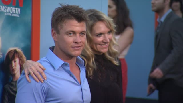 luke hemsworth at the vacation los angeles premiere at regency village theatre on july 27 2015 in westwood california - regency village theater stock videos and b-roll footage