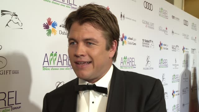 INTERVIEW Luke Hemsworth on receiving a Golden Globes nomination and supporting the charity at 2016 Dubai International Film Festival Day 6 at...